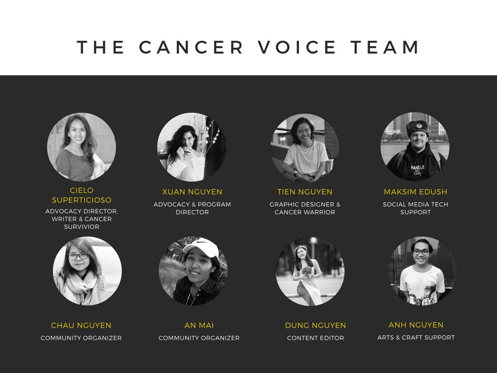The Cancer Voice Vietnam Team | https://www.facebook.com/noi.cung.con/