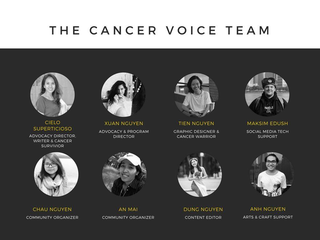 The Cancer Voice Vietnam Team | https://www.facebook.com/noi.cung.con/
